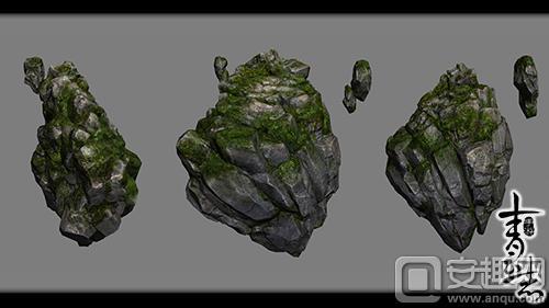 3D高清盆景矢量图