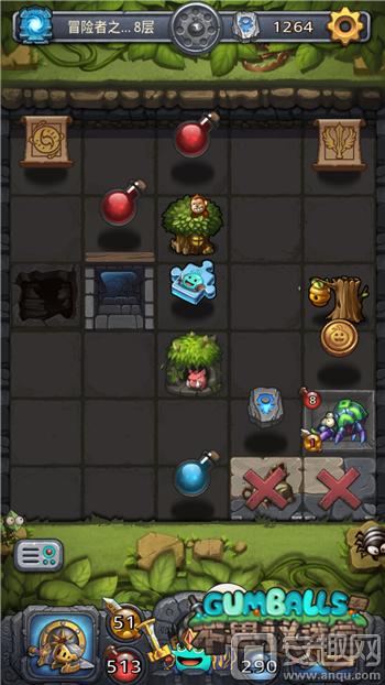 图1:《不思议迷宫》冒险者之森.png